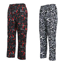 New Chefwear 3500 Men/'s Ultimate 100/% Cotton Baggy Chef Pants Cup Cakes XS-5XL