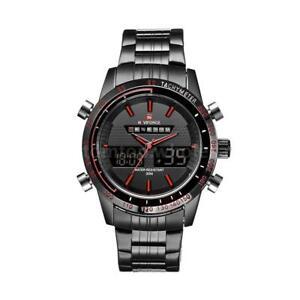 Naviforce-9024-LED-Luxury-Stainless-Steel-Date-Analog-Digital-Men-039-s-Quartz-Watch