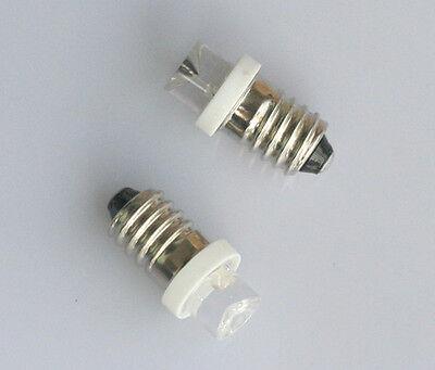 2x E10 LED Schraubsockel Birne Weiß 6V E-10 Lampe Leuchte Leuchtmittel 6 Volt
