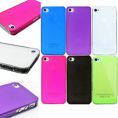 Ultra Thin Slim Colorful Cell Phone Hard Cover Case For Apple iPhone 4S 4G 5 5S