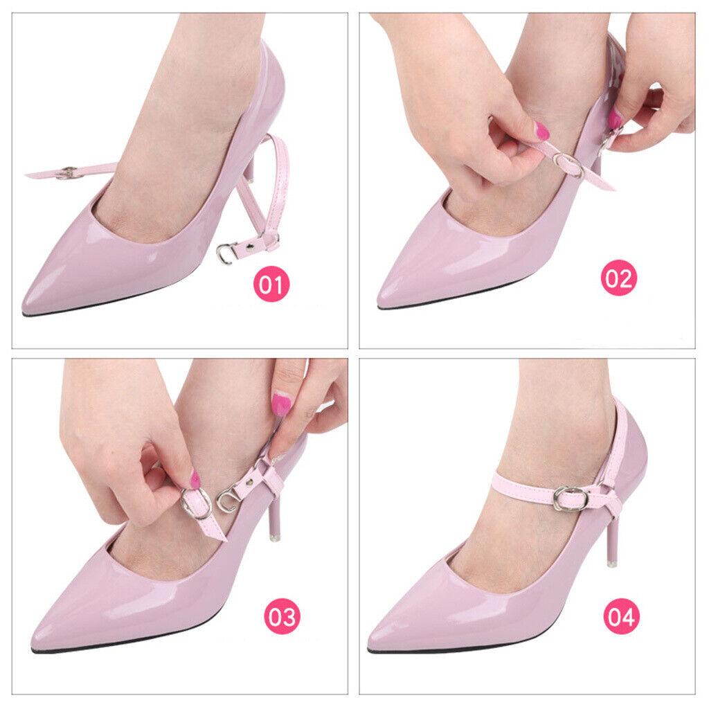 1 Pairs Women's Detachable Faux Leather Shoe Straps Shoelaces, Lady High Heels