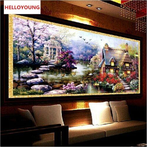 Diamond Mosaic Landscapes Garden Lodge Full Diamond Painting Cross Stitch Kits