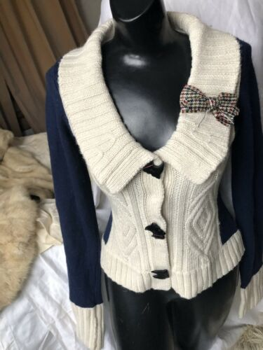 Sz Chien X Terrier Sweatshirt Scottie Anthropologie Cardigan Boutons qZHWSntE