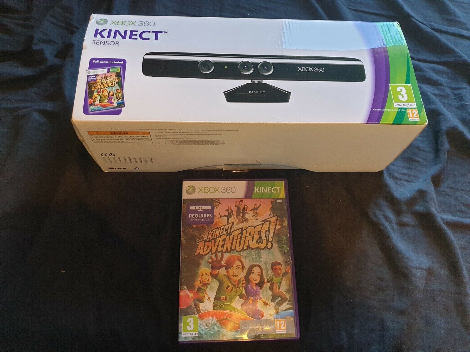 Official Microsoft Xbox 360 Kinect Motion Camera Boxed with Kinect Adventures