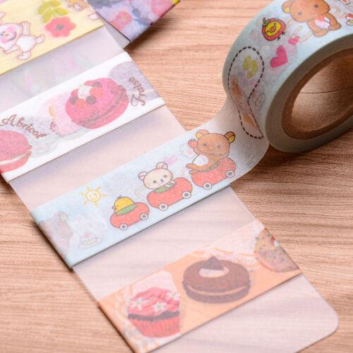 5X Washi Papier Masking Klebeband Dekorative Klebeband Band Geschenke Nett