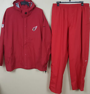 Nike Arizona Cardinals Storm-fit Suit Jacket Customers First Pants Red Nfl Rare New 3xl 4xl