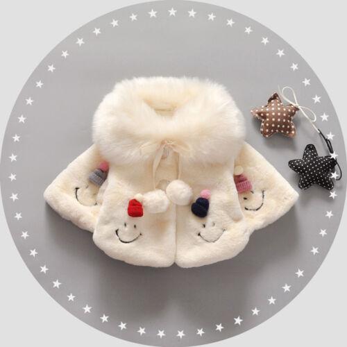 Kids Girls Newborn Baby Toddler Winter Hooded Coat Outerwear Jacket Clothes HOT