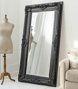 mirror 72. image is loading valois-large-full-length-shabby-chic-black-wall- mirror 72 o