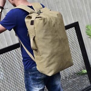 06eadafbdb45 Men Women Big Capacity Carry Travel Bag Backpack Canvas Hiking ...