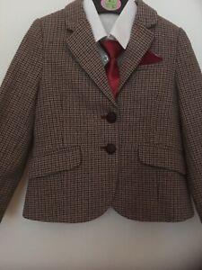 Childs Brown Checked Jacket âgés De 4/5 Ans-afficher Le Titre D'origine Prix De Vente Directe D'Usine