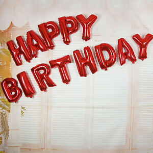 image is loading 16 inch red 034 happy birthday 034 letters