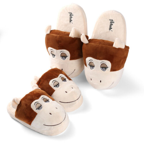 Adult Kid/'s Monkey Animal Plush Stuffed Slippers Winter Warm House Indoor Shoes
