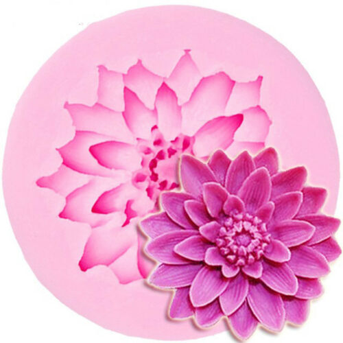 Lotus flower silicone fondant cake molds chocolate mould for baking decors B fw