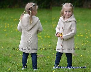 Knitting-Pattern-Hearts-Queen-Coat-Cardigan-Jacket-Baby-Child-Teen-sizes