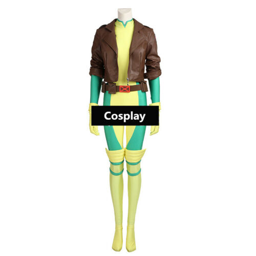 X-Men Rogue Cosplay Costume Jumpsuit CoatAnna Marie Halloween Outfit Custom Made