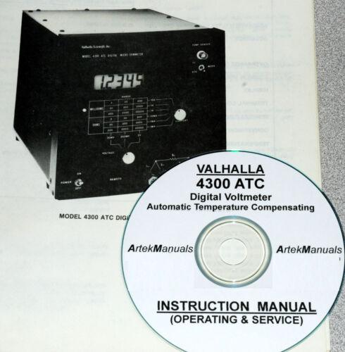 Valhalla 4300-ATC Operating /& Service Manual