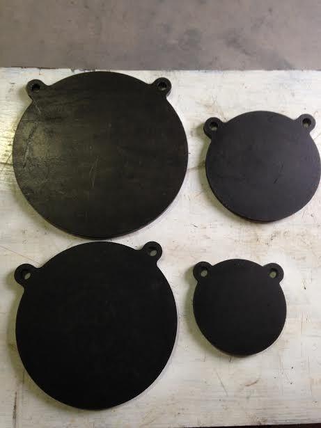 Ar500 Acero Gong disparar a objetivos 4 piezas Set de 1 2  x 6 , de 8 pulgadas, 10  , de 12