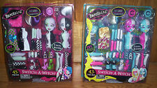 Switch-A-Witch Bratzillaz STYLE 1 & 2 Glitter Sparkling Glass Eyes 4 Dolls Blue
