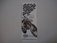 advertising Pubblicità 1980 MOTO SWM CROSS