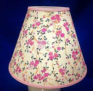 pink flowers floral handmade lampshade lamp shade ebay. Black Bedroom Furniture Sets. Home Design Ideas