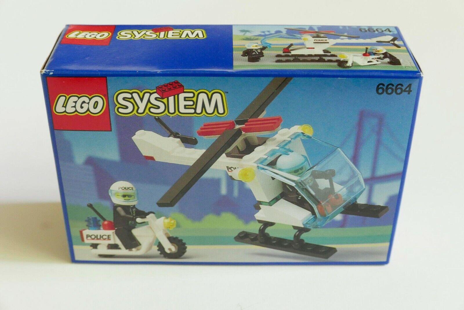 LEGO System Town 6664 Chopper  Cops nouveau Sealed RARE Vintage MISB MINT  les promotions
