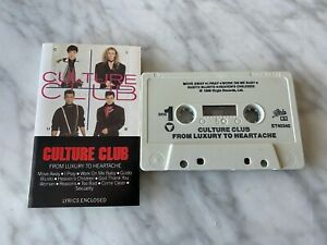 Culture Club From Luxury To Heartache CASSETTE Tape 1986 Virgin OET 40345 RARE!
