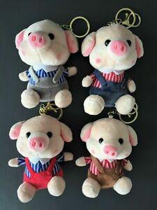 Kawaii-Animal-Pig-Stuffed-Soft-Plush-Toy-Key-Charm-Chain-Ring-Bag-Mobile-JAPAN