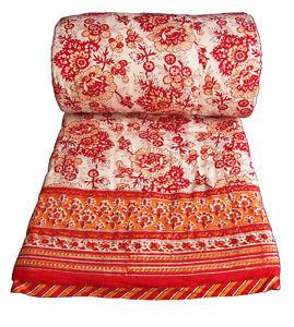 Anokhi reversible pillow cover Poppy
