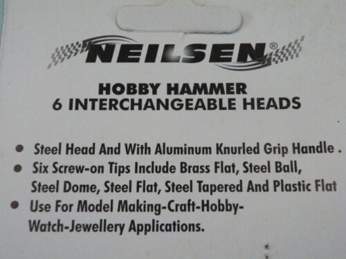 6PC Miniature Hammer Set 4 craft Hobby Jewellery Brass Steel Nylon 4286 628