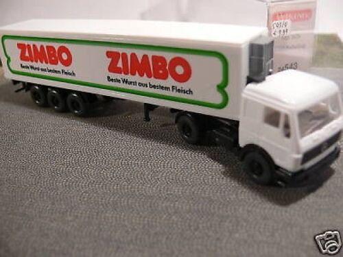 1//87 Wiking MB S80 Zimbo Kühlkoffer-Sattelzug 543 4 A