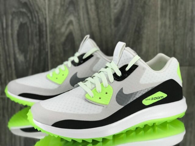 new arrival 64586 5b7e2 NIKE AIR ZOOM 90 IT GOLF SHOES SIZE 8 WHITE VOLT BLK 844569 102 RORY  MCILROY MAX