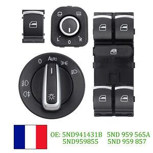 Interrupteur-de-leve-vitre-commutateur-miroir-pour-VW-Golf-5-6-Passat-3C-chrome