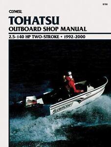 tohatsu outboard 60hp 140hp engine shop manual