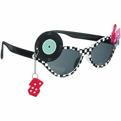 Divertimento Occhiali Sole Classica 50er Rock 'n' Roll Tinteggiato Rockabilly Fun Party Glasses-mostra Il Titolo Originale Per Godere Di Alta Reputazione Nel Mercato Internazionale