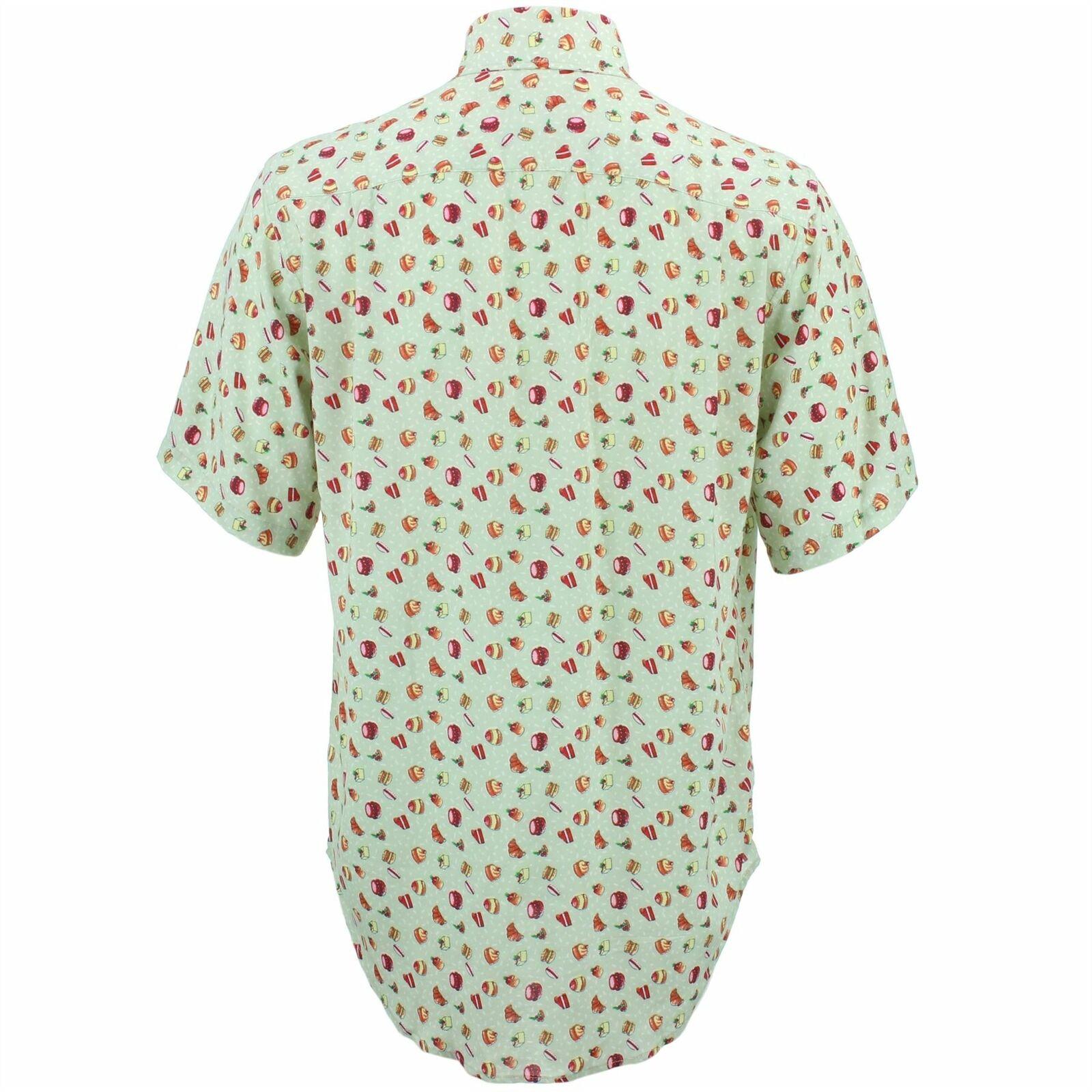 Camicia da uomo forte ORIGINALI REGULAR FIT Torta Torta Torta verde Retro Psichedelico Costume 3581cd
