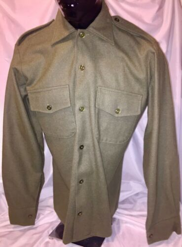 OD VINTAGE STYLE BRITISH ARMY WOOL SHIRTS New//old stock SIZE 37 cm collar