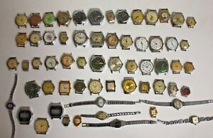 Lot-of-61-SOVIET-USSR-RUSSIAN-Watches-For-Service-or-parts-RARE