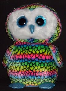 """TY BEANIE BOOS - ARIA the 16"""" OWL (LARGE) - CLAIRE'S EXCLUSIVE -MINT w/ MINT TAG"""