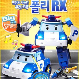 Robocar poli rx radio cross robot mode wireless remote control car height 22cm 4891813831853 ebay - Radio car poli ...