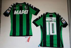 17 Sassuolo 10 Jersey Home Shirt Matri 16 Gara Match Maglietta Maglia Kappa pEqfdp
