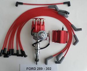 small block ford 289 302 red small hei distributor red coil spark rh ebay com