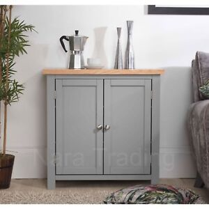 Richmond Storage Hall Cupboard Grey Painted Solid Wood Furniture Ebay