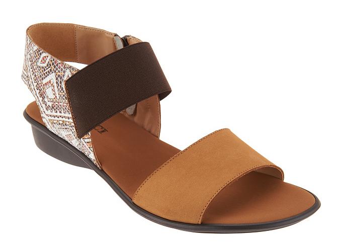 Sesto Meucci Leather color Block Sandals - Eirlys Camel Women's Size 6W