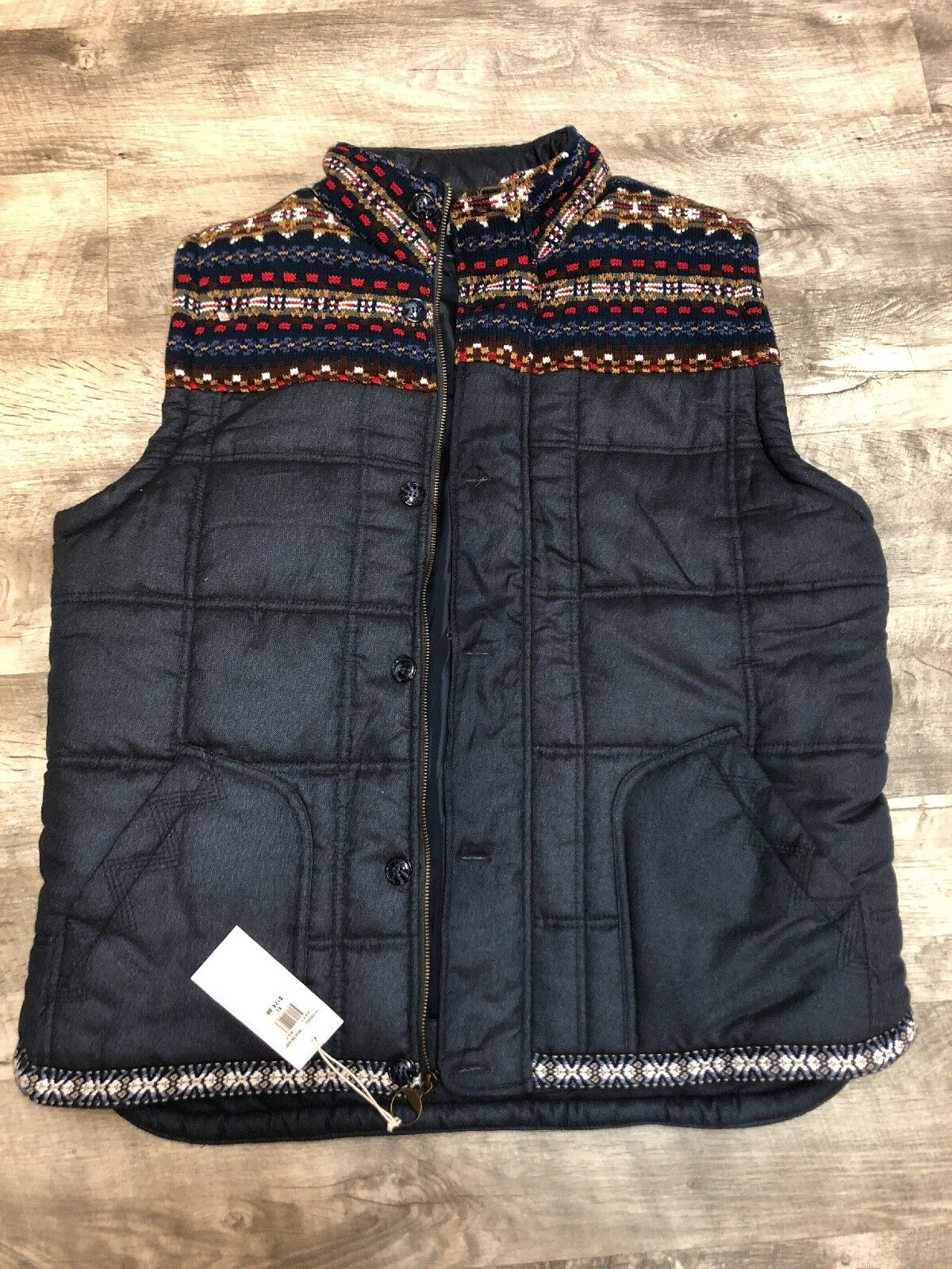 STAPLE NAVY blueE VEST SIZE XL- original price 124.00