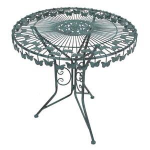 Gartentisch Metalltisch Dekotisch Garten Gartendeko Tisch Metall