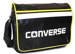 Image is loading Converse-Flap-Messenger-Sport-Bag-Black 9d85de8897983