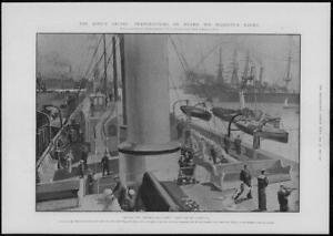 1902-Antique-Print-ROYALTY-Kings-Cruise-Yacht-Victoria-Albert-Preparations-78