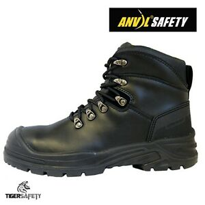 b7c46548f3b Details about Anvil Safety Bristol S3 SRC Black Leather Steel Toe Cap Wide  Fit Safety Boots