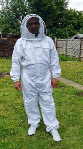 Professional Beekeeping suit beekeeper suit bee suit with fencing veil-MEDIUM