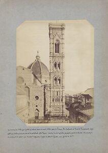 Firenze Italia Foto Albumina Ca 1875
